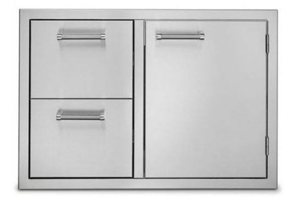 """Large image of Viking Outdoor Series 30"""" Stainless Steel Double Drawer And Access Door Combo - VOADDR5300SS"""