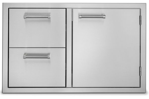 """Large image of Viking Outdoor Series 30"""" Stainless Steel Double Drawer & Access Door Combo - VOADDR5301SS"""