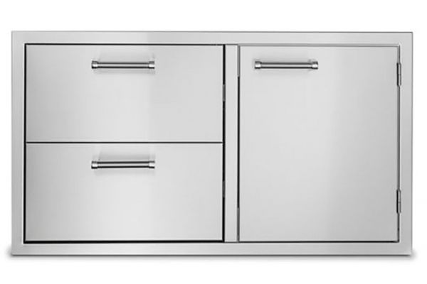"""Large image of Viking Outdoor Series 36"""" Stainless Steel Double Drawer And Access Door Combo - VOADDR5361SS"""