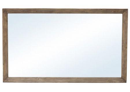 Four Hands Post & Rail Collection Sundried Ash Settler Mirror - VPRB-17-58