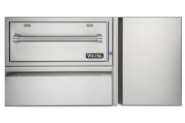 """Large image of Viking 42"""" Stainless Steel Warming Drawer - VQEWD5421SS"""