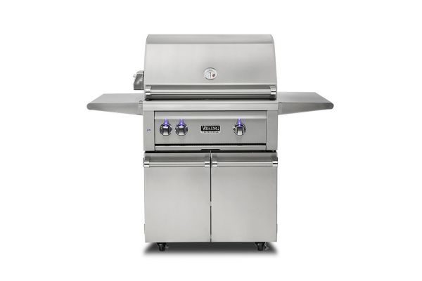 """Large image of Viking 30"""" Stainless Steel Freestanding Natural Gas Grill With ProSear Burner And Rotisserie - VQGFS5301NSS"""