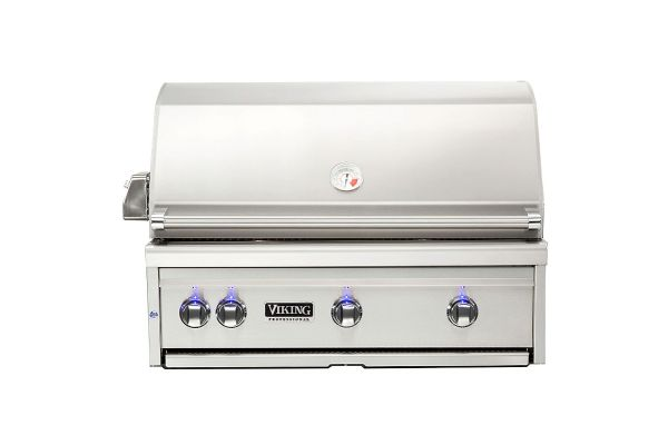 "Large image of Viking 36"" Stainless Steel Built-In Liquid Propane Grill With ProSear Burner And Rotisserie - VQGI5361LSS"