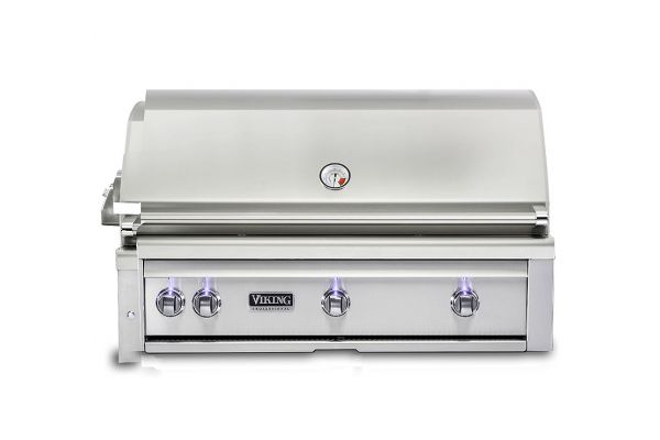 "Large image of Viking 42"" Stainless Steel Built-In Natural Gas Grill With ProSear Burner And Rotisserie - VQGI5421NSS"