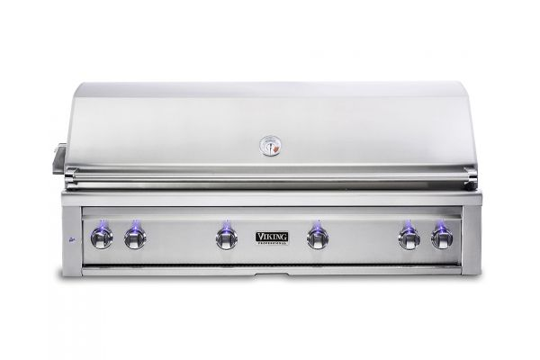 """Large image of Viking 54"""" Stainless Steel Built-In Liquid Propane Grill With ProSear Burner And Rotisserie - VQGI5541LSS"""