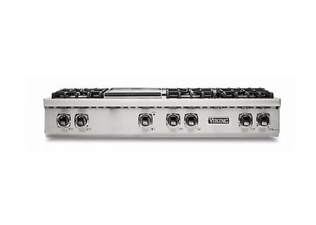 """Viking Professional 5 Series 48"""" Stainless Steel With Griddle Gas Rangetop - VRT5486GSS"""