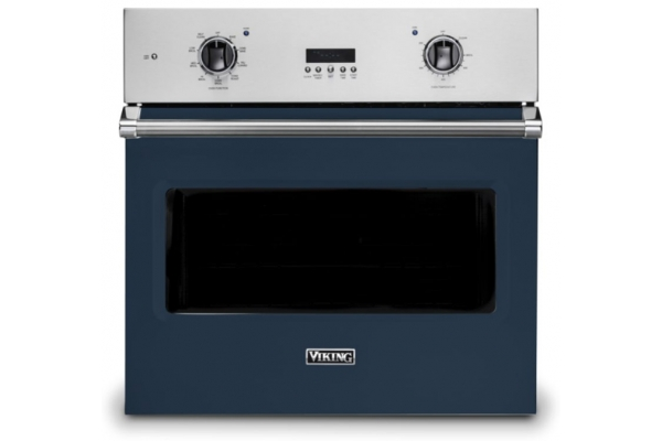 "Large image of Viking 30"" Professional 5 Series Slate Blue Electric Single Select Oven - VSOE130SB"