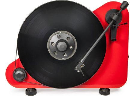Pro-Ject Vertical Red Gloss Right Hand Bluetooth Turntable - VTEBTRHGRED