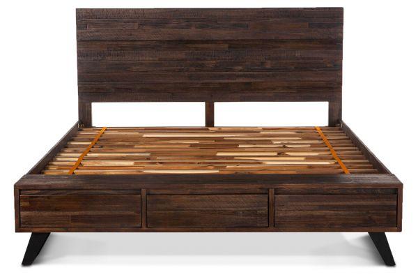 Large image of Home Trends & Design Urban Loft Dark Brown King Bed - VUL-PBK