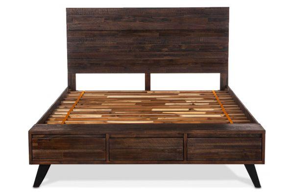 Large image of Home Trends & Design Urban Loft Dark Brown Queen Bed - VUL-PBQ