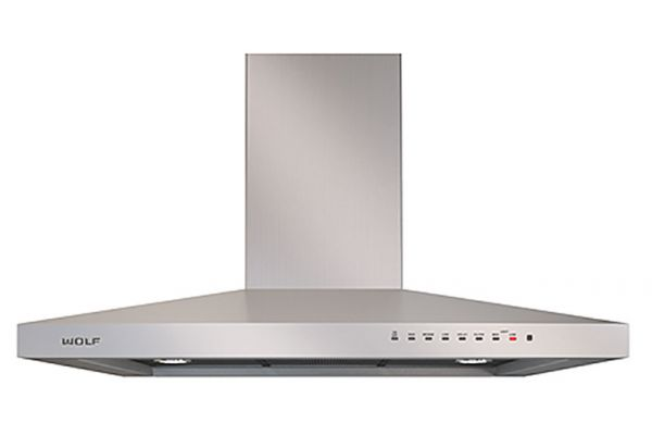 """Large image of Wolf 36"""" Stainless Steel Cooktop Wall Hood - VW36S"""