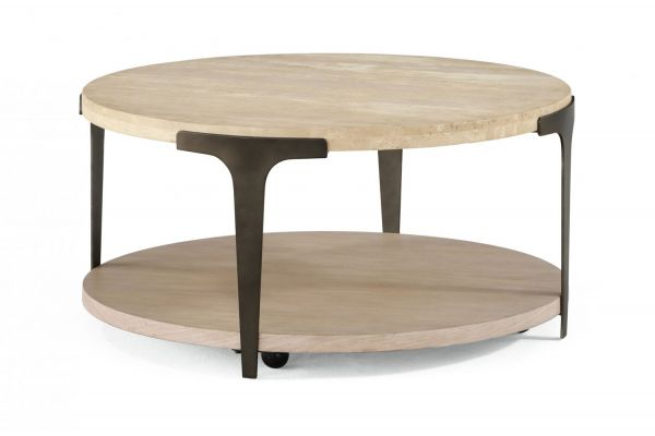 Large image of Flexsteel Omni Round Coffee Table With Casters - W1075-0341