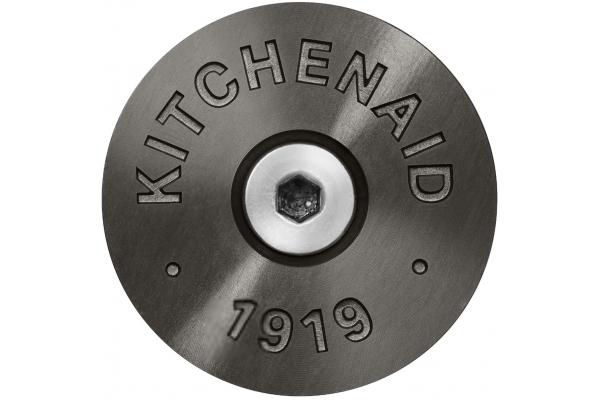 Large image of KitchenAid Black Commercial-Style Range Handle Medallion Kit - W11368841BO