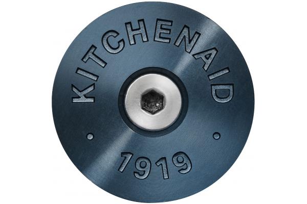 Large image of KitchenAid Dark Blue Commercial-Style Range Handle Medallion Kit - W11368841DD