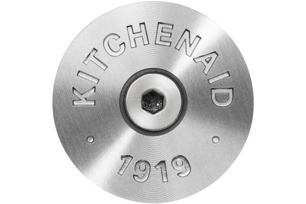 Large image of KitchenAid Silver Commercial-Style Range Handle Medallion Kit - W11368841SI