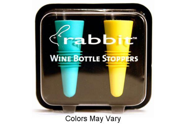 Large image of Rabbit Wine Assorted Color Bottle Stopper Pack - W6119