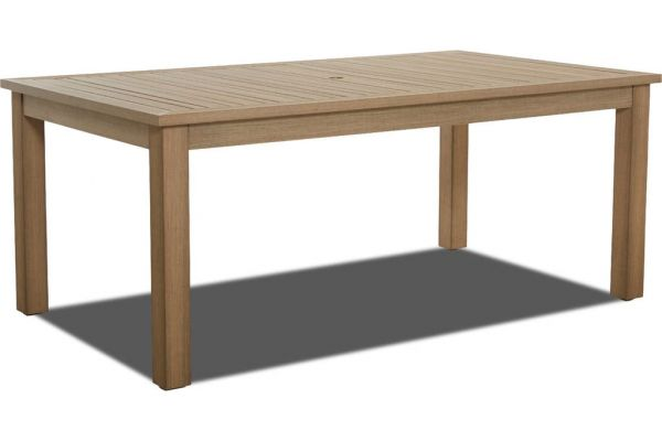 "Large image of Klaussner Outdoor Delray Collection Dune 73"" Dining Room Table - W8502-DRT73"