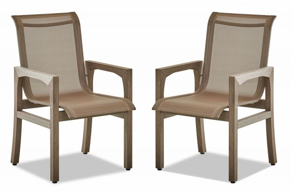 Klaussner Outdoor Delray Collection Set Of Two Shadow Dining Chairs - W8503-DRC