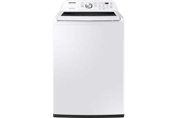 Large image of Samsung 4.5 Cu. Ft. White Top Load Washer - WA45T3200AW/A4
