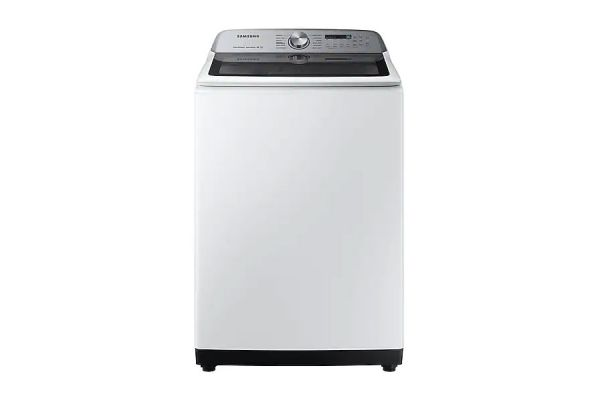 Large image of Samsung 5 Cu. Ft. White Top Load Washer With Super Speed - WA50R5400AW/US