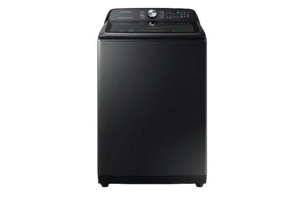 Large image of Samsung Fingerprint Resistant Black Stainless Steel Top Load Washer - WA50R5400AV/US