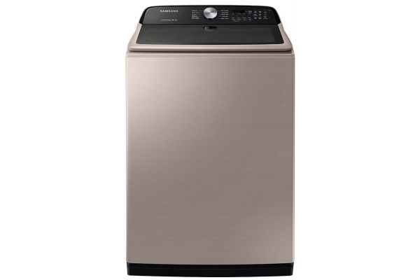 Large image of Samsung 5.0 Cu. Ft. Champagne Top Load Washer With Active WaterJet - WA50T5300AC/US
