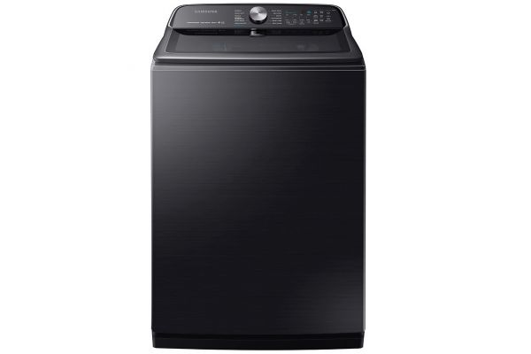 Samsung 5.4 Cu. Ft. Fingerprint Resistant Black Stainless Steel Top Load Washer - WA54R7600AV