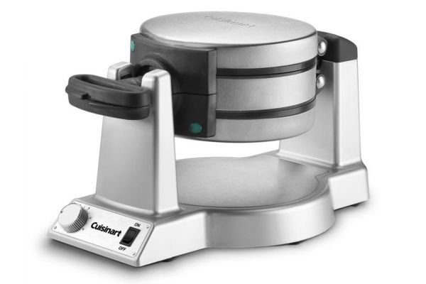 Cuisinart Stainless Steel Round Double Belgian Waffle Maker - WAFF20