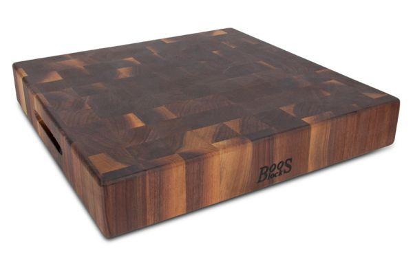 "Large image of John Boos & Co. Walnut 3"" Thick Reversible Chopping Block - WALCCB183S"