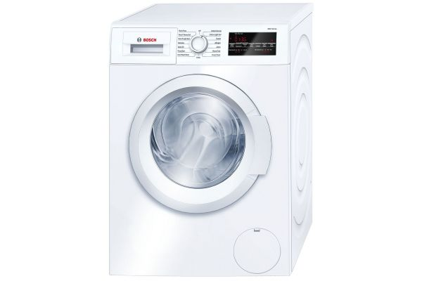 """Bosch 24"""" 300 Series White Front Loading Compact Washer - WAT28400UC"""
