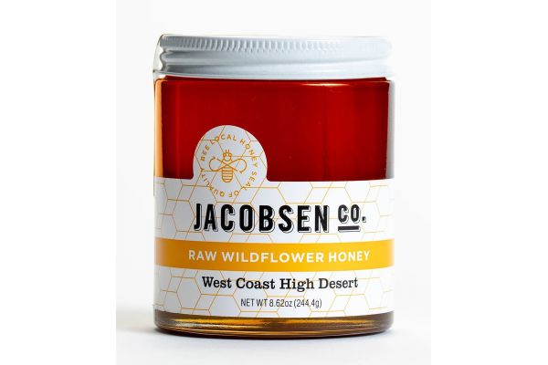 Large image of Jacobsen Salt Co. Raw Wildflower Honey, West Coast High Desert - WCWHON8