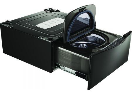 "LG 29"" SideKick Black Stainless Steel Pedestal Washer - WD205CK"
