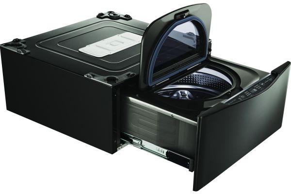 "Large image of LG 29"" SideKick Black Stainless Steel Pedestal Washer - WD205CK"