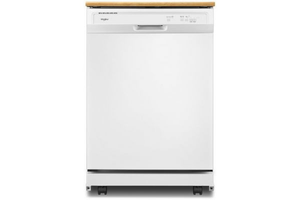 Large image of Whirlpool Heavy-Duty White Portable Dishwasher - WDP370PAHW