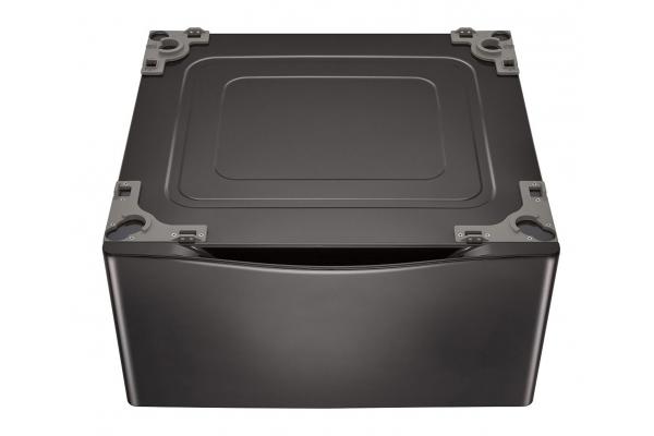 """Large image of LG 27"""" Black Steel Washer Dryer Pedestal & Storage - WDP4B"""