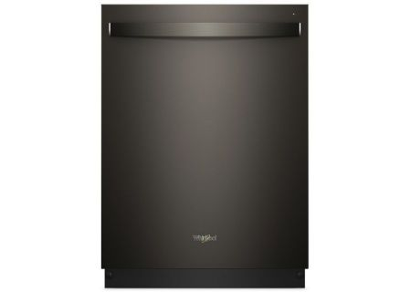 Whirlpool TotalCoverage Spray Print Resistant Black Stainless Steel Built-In Dishwasher - WDT750SAHV