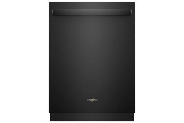 "Whirlpool 24"" Black Built-In Dishwasher - WDT970SAHB"
