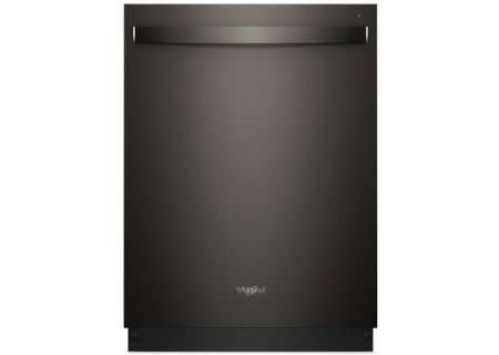 "Whirlpool 24"" Print Resistant Black Stainless Steel Built-In Dishwasher - WDT970SAHV"