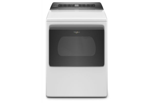 Large image of Whirlpool 7.4 Cu. Ft. White Top Load Electric Dryer With Intuitive Controls - WED5100HW