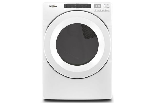 Large image of Whirlpool 7.4 Cu. Ft. White Front Load Electric Dryer With Intuitive Touch Controls - WED5620HW