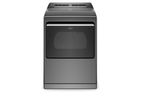 Large image of Whirlpool 7.4 Cu. Ft. Chrome Shadow Smart Electric Dryer - WED7120HC