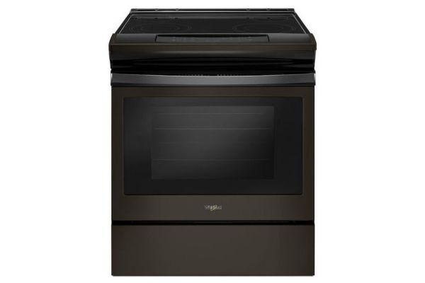 Large image of Whirlpool Black Stainless Steel Slide-In Electric Range - WEE510S0FV