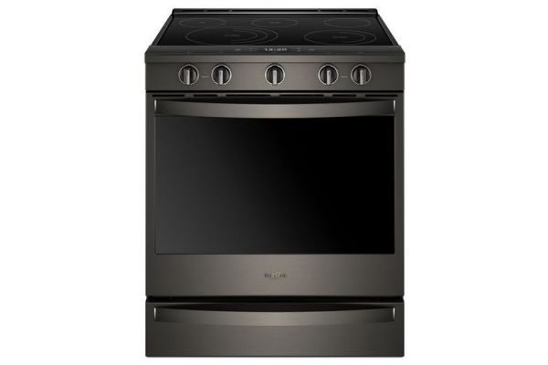 Large image of Whirlpool 6.4 Cu. Ft. Black Stainless Smart Slide-In Electric Range - WEE750H0HV