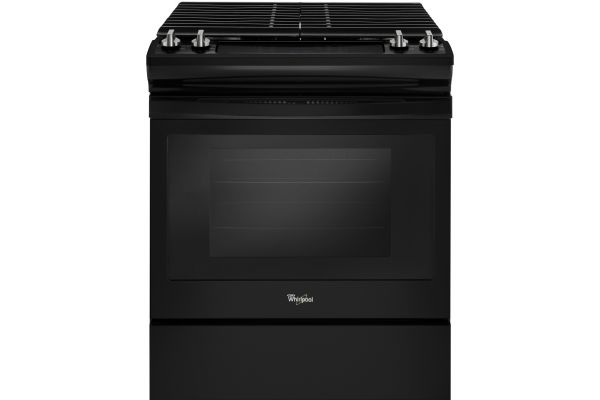 Large image of Whirlpool Black Slide-In Gas Range - WEG515S0FB