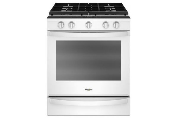 Whirlpool 5.8 Cu. Ft. White Slide-In Gas Range - WEG750H0HW