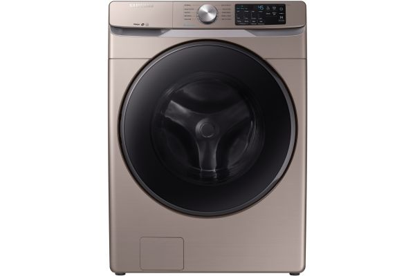 Large image of Samsung Champagne Front Load Steam Washer - WF45R6100AC/US