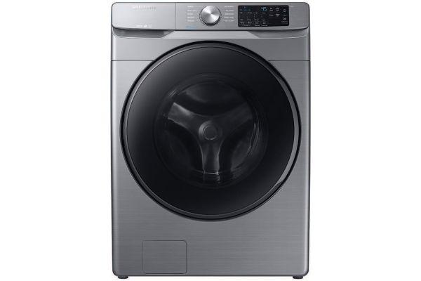 Large image of Samsung Platinum Front Load Steam Washer - WF45R6100AP/US
