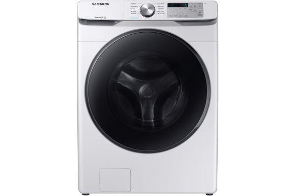 Samsung White Front Load Steam Washer - WF45R6100AW
