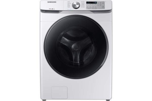 Large image of Samsung White Front Load Steam Washer - WF45R6100AW/US