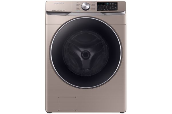 Large image of Samsung 4.5 Cu. Ft. Champagne Front Load Washer With Super Speed - WF45R6300AC/US